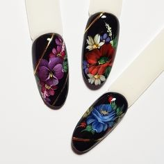 Tatyana Vista & # s photos – Nails Club Manicure Nail Designs, Nail Manicure, Toe Nails, Nail Art Designs, Nail Polish, Nails Design, Manicures, One Stroke Nails, Bling Acrylic Nails