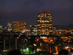 Phoenix Metro at night Arizona Paths