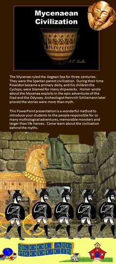 ANCIENT GREECE: The Mycenaean Civilization PowerPoint Presentation     Cyclops--Troy--Hercules--The Iliad--Were they real? Who were the Mycenae? People of legend or historical characters? This 42 slide PowerPoint presentation is a fabulous way to start your unit on Ancient Greece. $