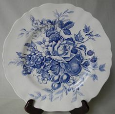 Beautiful+Blue++English+Transferware+Plate+by+EnglishTransferware,+$21.99