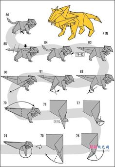 How to make origami lion instructions. Easy and advanced origami . - How to make origami lion instructions. Easy and advanced origami … - Origami Design, Origami Ball, Origami Lion, Instruções Origami, Origami Simple, Origami And Kirigami, Paper Crafts Origami, Origami Folding, Useful Origami