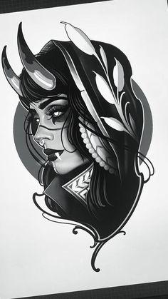 Ma Tattoo, Epic Tattoo, Cute Tattoos, Black Tattoos, Body Art Tattoos, Japanese Flower Tattoo, Japanese Sleeve Tattoos, Cthulhu Tattoo, Tattoo Samples