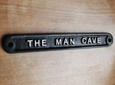 Vintage Man Cave Sign  Shed Garage Dad Father's Day Gift