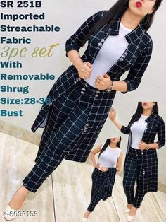 Checkout this latest Top & Bottom Sets Product Name: *Classy Women's Top & Bottom Sets* Bottom Fabric: Cotton Sleeve Length: Sleeveless Multipack: 1 Add on: Shrug Sizes:  S, M, L, XL Country of Origin: India Easy Returns Available In Case Of Any Issue   Catalog Rating: ★4 (3681)  Catalog Name: Trendy Modern Women Top & Bottom Sets CatalogID_927137 C79-SC1290 Code: 926-6096155-6981