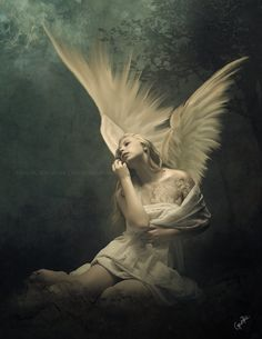 ArtStation - The Angel of the Earth, Gene Raz von Edler Artist. Angels Among Us, Angels And Demons, Dark Angels, Fantasy Kunst, Fantasy Art, Elfen Tattoo, Angel Artwork, I Believe In Angels, Ange Demon
