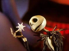 """""""The Nightmare Before Christmas"""" - Jack Skellington. """"What's this? There's white things in the air!"""""""