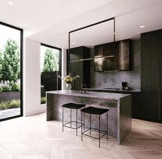 Complete your kitchen with the VIGO Gramercy P … The post Modern minimalist kitchen design! Complete… appeared first on Best Pins for Yours - Kitchen Decoration Minimalist Kitchen, Minimalist Decor, Modern Minimalist, Minimalist Design, Kitchen Modern, Modern Kitchens, Small Kitchens, Dream Kitchens, Home Decor Kitchen