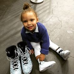 That time she scored the sweetest kicks. | 30 Times Riley Curry Was The Real Star Of The NBA