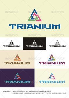 Trianium - Logo Design Template Vector #logotype Download it here: http://graphicriver.net/item/trianium-logo/2388522?s_rank=805?ref=nexion