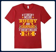 Mens Doesn't Involve Rugby & Champagne Sports Fan T-Shirt 3XL Cranberry - Sports shirts (*Amazon Partner-Link)