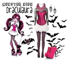 """MonsterHigh Draculaura"" by rosenrott ❤ liked on Polyvore featuring Three Little Words, SPANX, MANGO and Tarina Tarantino"