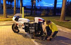 Team Moto Electra - replica vintage Norton Featherbed.  EV Conversion by Brian Richardson and a James Madison University team led by Dr. Robert Prins.