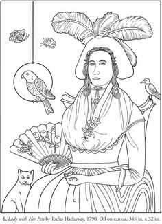 Color Your Own American Folk Art Paintings: Dover Publications Samples