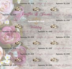Wedding Step and Repeat Red Carpet Backdrop, Event Banner, Repeat, Backdrops, How To Memorize Things, Pearl Earrings, Templates, Prints, Wedding