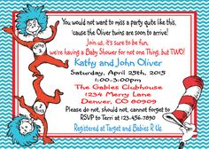 Thing 1 and Thing 2-Dr. Seuss Baby Shower by ASweetCelebration