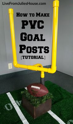 Are you hosting a ‪#‎SuperBowl‬ party next weekend? If you are, you NEED these super-cool PVC goal posts on our buffet table