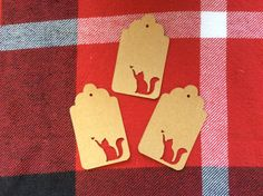 Die cut Cat and Butterfly Tag by NatureCuts on Etsy