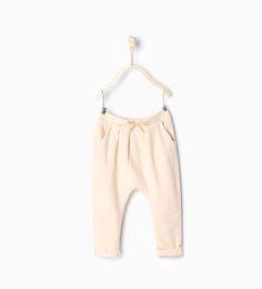 ZARA - KIDS - Organic cotton trousers with drawstring
