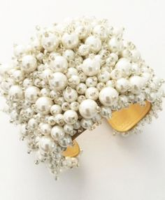 How glamorous is this pearl bridal statement cuff, great for brides looking for an elegant statement piece to finish their bridal look. This stunning cuff wi. Bridal Cuff, Bridal Jewelry, Unique Jewelry, Pearl Bridal, Unique Gifts, Handmade Gifts, Glamorous Wedding, Bridal Looks, Wedding Styles