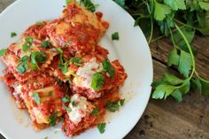 """Slow Cooker Ravioli """"Lasagna"""" is a kid (and grown up) favorite. It is one of our top """"non-recipe"""" recipes. Dinner doesn't have to be complicated, or super fancy. &nbs…"""