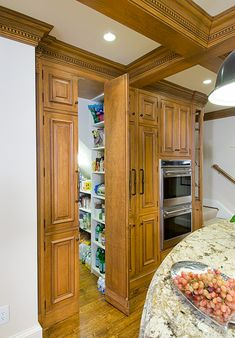 Walk in pantry Designed by AKB Hidden Pantry, Walk In Pantry, Kitchen Cupboards, Kitchen Pantry, Pantry Design, Pantry Ideas, Cabinet Ideas, Kitchens, House Ideas