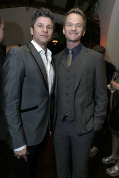 David Burtka and Neil Patrick Harris attend the Warner Music Group 2013 Grammy Celebration Presented By Mini at Chateau Marmont on February 10, 2013 in Los Angeles, California.