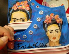 Painted Bags, Painted Clothes, Painted Shoes, Hand Painted, All Star, Frida Art, Cultural Appropriation, Decorated Shoes, Walk In My Shoes