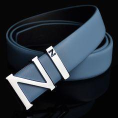 "Letter""N"" buckle leather belt, man casual cool Cowhide leather belt Leather Belts, Cowhide Leather, Men's Belts, Men Accesories, Accessories, Men Design, Belt Buckles, 1 Piece, Me Too Shoes"