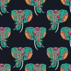 Ethnic Seamless Pattern #Elephant