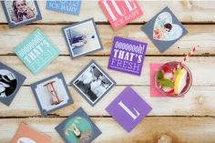 printables for coasters and mini frames