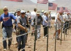 The 'Well Regulated Militia Civilian Border Patrol' and this is probably the ONLY way we will ever get any border security.  Of course, if Obama has his way all the guns will be in Mexico and we can throw feathers at the people crossing.