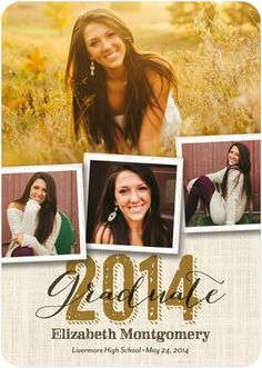 Southern Style - Graduation Announcements - Fine Moments - Umber Brown with rounded corner trim option. #graduation #grad