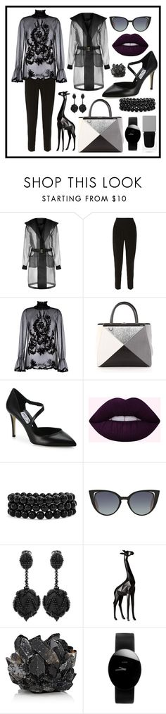 """Untitled #114"" by asena-cakmak on Polyvore featuring Chloé, Blugirl, Fendi, Jimmy Choo, Bling Jewelry, Oscar de la Renta, Torre & Tagus, McCoy Design, Rado and Givenchy"