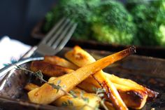 Honey & Maple Roasted Parsnips