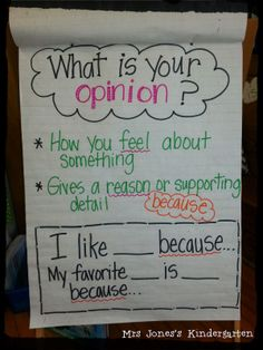 opinion anchor charts - Google Search