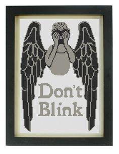 Dont Blink Cross-Stitch Pattern. #DoctorWho