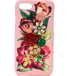 Dolce & Gabbana Floral Embellished iPhone 7 Case, Pink, Women's