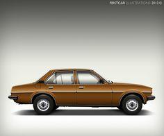 1980 OPEL ASCONA B - firstcar illustrations
