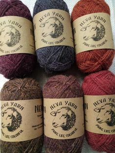 NEVA YARN Set 6x50g 100% WOOL Natural Yarn. Great for knitting