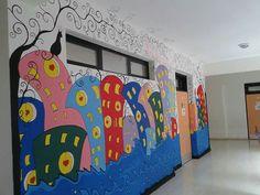 My work on wall of school
