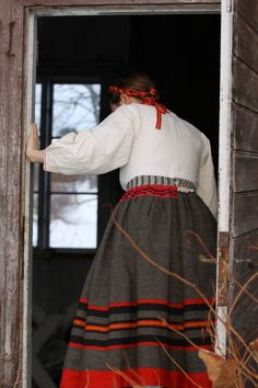 Costume from the village above Lake Siljan.
