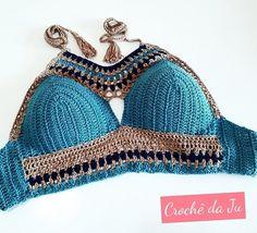 Sashay Crochet, Crochet Halter Tops, Crochet Crop Top, Crochet Blouse, Cute Crochet, Crochet Lace, Crochet Bikini, Diy Crafts Crochet, Crop Top Dress