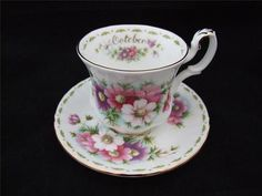 Royal Albert Flower of The Month  Cosmos October