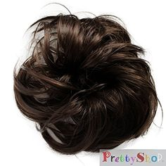 Amazon.com : PRETTYSHOP Scrunchie Bun Up Do Hair piece Hair Ribbon Ponytail Extensions Wavy Curly or Messy Various Colors(bleach blonde 25T613) : Beauty