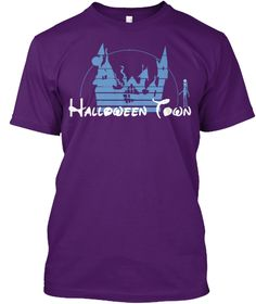 Halloween Town Hoodies And Tees Purple T-Shirt Front