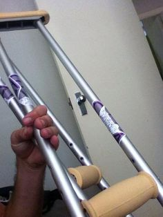 Rhys's custom crutches   SBLA // Skinny Brunette Lifestyle Association
