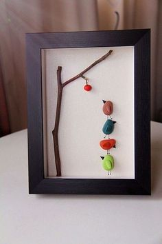Stone Diy Inspiration In Home Decoration Page 17 Of 53 Diy Home Decoration Furniture Wall Decoration Decorative Painting Painted Stones Painted Rocks Stone Diy Creative Diy Stone Diy Decoration Simple Diy Diy Painting Stone Crafts, Rock Crafts, Diy And Crafts, Sea Glass Crafts, Sea Glass Art, Stone Painting, Diy Painting, Caillou Roche, Glass Art Design