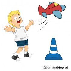 Gymles voor kleuters, thema vliegveld, kleuteridee.nl