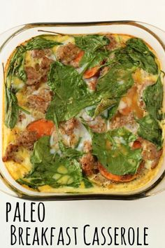 This is a weekly staple in our house! It makes mornings easier and is the perfect breakfast. Paleo Breakfast Casserole : the perfect breakfast, served hot or cold Perfect Breakfast, Healthy Breakfast Recipes, Paleo Recipes, Whole Food Recipes, Healthy Eating, Cooking Recipes, Clean Eating, Paleo Breakfast Casserole, Breakfast Cassarole