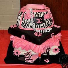 Amy Beck Cake Design Chicago IL Juicy Couture Purse Birthday - Purse birthday cake ideas